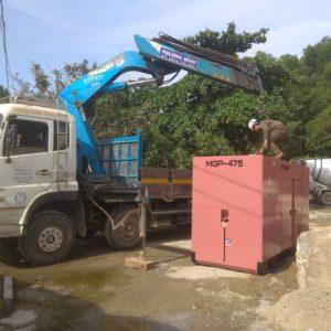 Bàn giao thử tải máy phát điện 400kVA tại Tam Kỳ