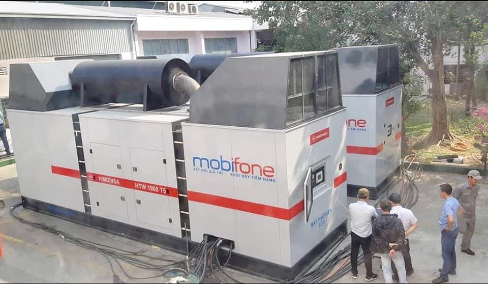 máy phát điện kVA nhập khẩu nguyên chiếc hiệu Himoinsa sử dụng động cơ Mitsubishi